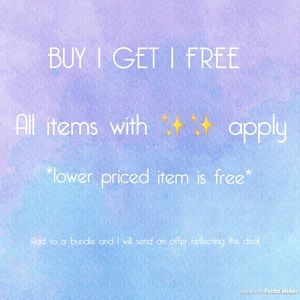Buy 1 get one FREE